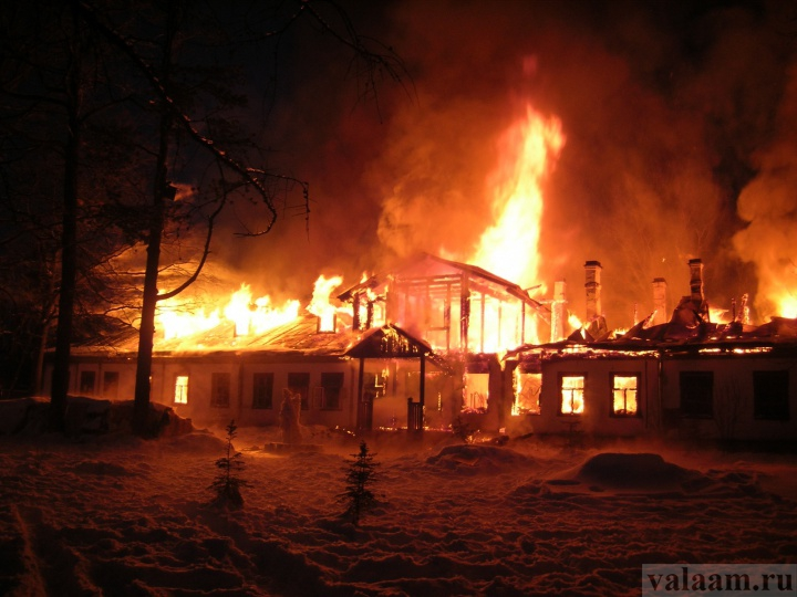 пожар на валааме фото можно больного